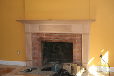 Oak Mantel - After Picture