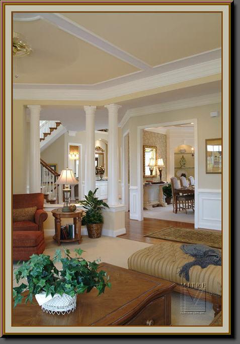 Columns,Crown, Chair, Ceiling Trim, Built-ins