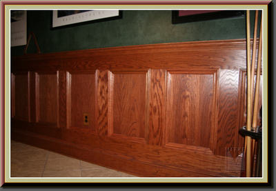 Wainscoting or shadowboxes mitre contracting inc for Examples of wainscoting