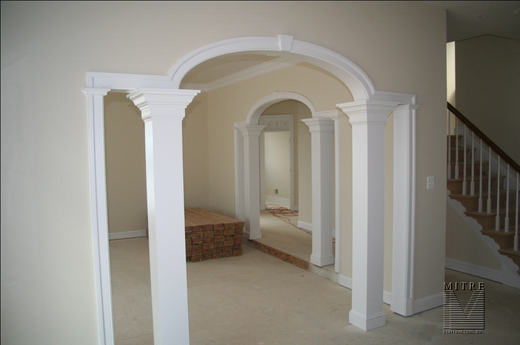 our featured interior trim install for may 08 - mitre contracting