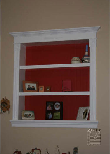 Built In Niche Cabinet Mitre Contracting Inc