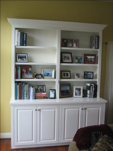 Charmant Custom Painted Bookcases · Cabinetry