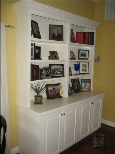 Built-In Bookcases - MITRE CONTRACTING, INC.