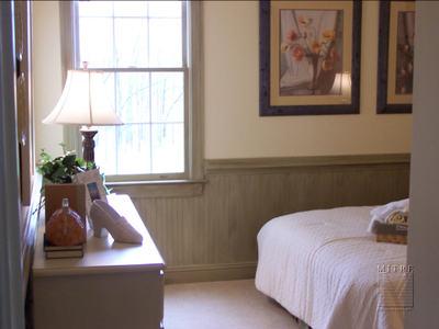 Bedroom with Beadboard  Wainscoting Bedroom