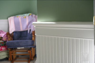 Beadboard Wainscoting Close-Up
