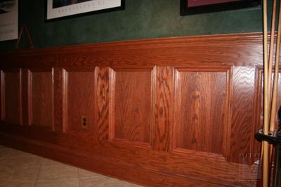 Flat Paneled Wainscot in Oak 48 inches high