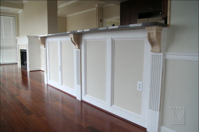 Wall Paneled Wainscoting